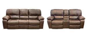 Bentley Power Reclining Sofa + Loveseat Pair